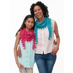 Sawtooth Kerchief for Mom & Me