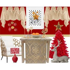 A home decor collage from December 2016 featuring palecek chairs, handmade chairs and red shade. Browse and shop related looks. Interior Decorating, Interior Design, Valance Curtains, Angel, Lights, Handmade, Interiors, Furniture, Color