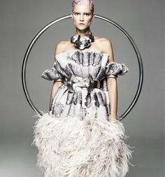 Alexander McQueen dress - Article by William Gibson on the future of fashion