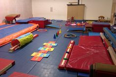 Part of the layout of our gym for our daily parent and child sessions.