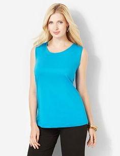 Perfect for layering, this must-have tank completes any outfit. Scoopneck style features stretchy fabric for complete comfort. Comes in an assortment of solid colors for mix-and-match possibilities. Pick up one in every color! Catherines tops are perfectly proportioned for the plus size woman. catherines.com