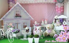 Sonho Rosa e Marrom - Muita Festa Decorações