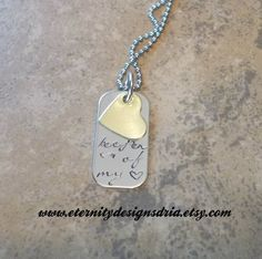Handstamped Personalized Keeper Of my Heart necklace/boyfriend necklace/gifrlfriend necklace/wife husband necklace/couples necklace - pinned by pin4etsy.com