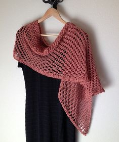 Lattice Stitch Shawl Loom Knit Pattern