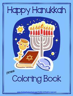 free hanukkah printables   Free Hanukkah Coloring Book - St Aiden's Homeschool   Freebies   For ...
