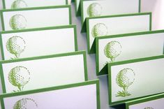 Golf Ball Place Cards Food Labels Set of by LaurasPaperCreations, $9.25