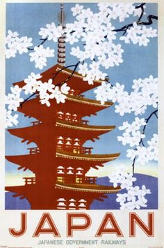 Japan Railways (Blossom)  Travel Poster