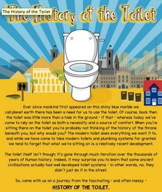 Toilet History Infographics - The Toilet History Infographic Details the History of This Life Staple (GALLERY) World History Facts, Ancient World History, World History Lessons, History Memes, European History, Us History, History Activities, Teaching History, History Timeline