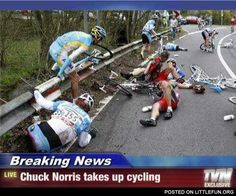when Chuck Norris took up cycling