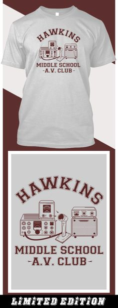 Hawkins AV Club - Limited edition. Order 2 or more for friends/family & save on shipping! Makes a great gift!