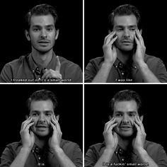 When he got stoned at Disneyland, and realised it really, truly is a small world after all.   19 Times Andrew Garfield Was Too Pure For This World