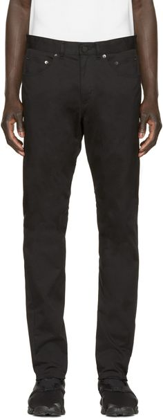 ALEXANDER WANG Black Twill Tailored Trousers. #alexanderwang #cloth #trousers