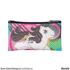 Retro Cloud Design Cosmetic Bag  http://www.zazzle.com/artzdizigns?rf=238365382999242687* #MakeupBag #MyLittlePony #RetroCloudDesign #Zazzle #ZazzleMade