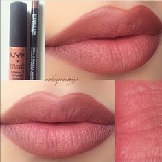 NYX STOCKHOLM SMLC Gorgeous pink/brown color matte lipstick. Goes on smooth and creamy and dries matte. Similar to MAC lipstick and Kylie Jenner candy k for a better price. New but no plastic wrap NYX Makeup Lipstick