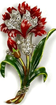 Alfred Philippe for Trifari Carnation Brooch