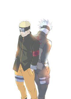 Uzumaki Naruto and Hatake Kakashi.