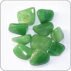 """Green Adventurine: """"Stone of Prosperity"""", All around healer, helps settle nausea and dissolves negative emotions and thoughts. It bring well-being and emotional calm. Activates the Heart Chakra. Crystals And Gemstones, Stones And Crystals, Healing Stones, Crystal Healing, Green Adventurine, Sticks And Stones, Rock Crafts, Spring Colors, Heart Chakra"""