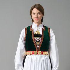 Bilderesultat for hardangerbunad Folk Costume, Costumes, Victorian Era, Norway, Ethnic, Bomber Jacket, Culture, Fashion Outfits, How To Wear
