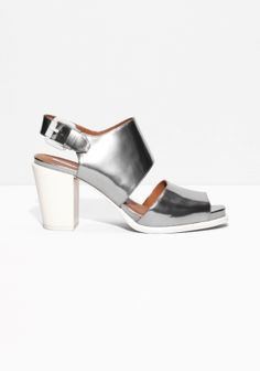 & Other Stories | Square Toe Heeled Sandals
