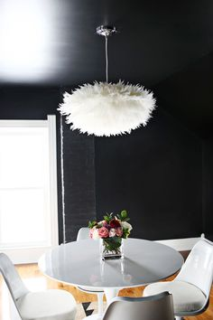 DIY Feather Pendant abeautifulmess.com