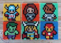 The Avengers coasters hama perler beads by Adorine-crea