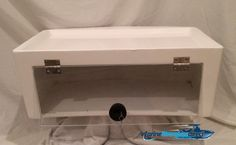 """26"""" custom fiberglass electronics box for your center console T-Top boat. Great for holding your CB radio and any other water sensitive products. Very good quality and great way to add dry storage."""