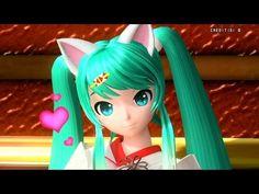 """[60fps Full] Cat Ears Archive ネコミミアーカイブ """"Nekomimi Archive""""- Hatsune Miku 初音ミク DIVA English Romaji - YouTube"""