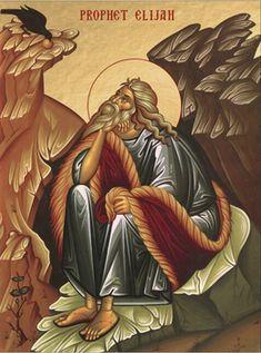 Icon of the Prophet Elijah (sitting) - - Uncut Mountain Supply Religious Icons, Religious Art, Monastery Icons, Archangel Raphael, Raphael Angel, Byzantine Icons, Home Icon, Orthodox Christianity, Orthodox Icons