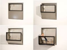 A window that turns into a balcony