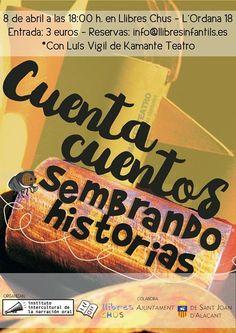 Cuentacuentos Sembrando Historias @ Llibreria Llibres Chus - 8-Abril https://www.evensi.com/cuentacuentos-sembrando-historias-llibreria-llibres-chus/203390080
