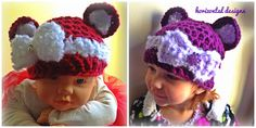 Bears and Bows Crochet Hat Pattern