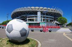 Kashima Soccer Stadium Soccer Shorts, Soccer Cleats, Soccer Ball, Soccer Stadium, Ibaraki, Beautiful Places In The World, Football, Japan, Shape