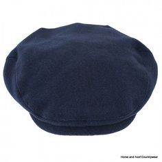 Heather Hats Joseph Melton Polywool Flat Cap - Navy A wool and polyester blend flat cap with a lovely soft Melton wool handfeel Satin-lined deep back