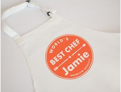 Let your little one get their hands dirty in the kitchen while wearing this fun apron featuring their name. Personalise your kids apron today! Cool Aprons, Birthday Gifts For Kids, Kids Apron, Best Chef, Gift Ideas, Christmas, Xmas, Weihnachten, Yule