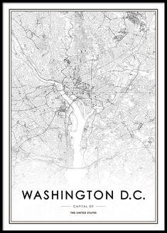 Washington D.C. Poster in der Gruppe Poster / Größen und Formate / 50x70cm bei Desenio AB (8726)