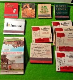 VINTAGE MATCHBOOKS Hotels Restaurants Funeral Home Bank CANADA+NEW YORK+INDIANA