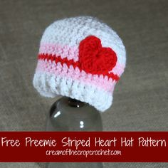 What a cute preemie hat? Imagine a little girl in this hat! Make sure to share your finished projects on my Facebook Page!