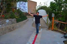 Walk the 'equator' line, its harder than you think!