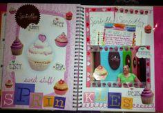 Rock, Paper, Scissors, & Scrap: Cutesy Style Smash Book - Sprinkles Cupcakes