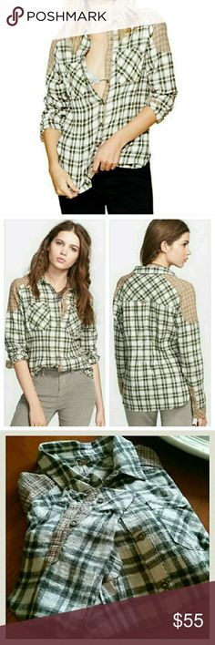 Free People Plaid Button-down Free People Catch up with Me button-down  Mixed plaids lend a fun, feminine update to a classic menswear-inspired shirt cut from pure cotton in a casual, relaxed silhouette.  - NWOT  - 100% cotton - Machine wash cold, line dry Free People Tops Button Down Shirts