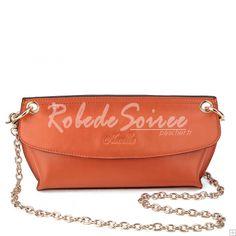 Sac Besace Femme-Le cuir orange sacs à main à double usage