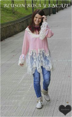 Bluson rosa y encaje