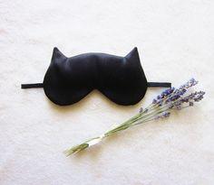 French Lavender Aromatherapy Cat Eye Mask. €20.00, via Etsy.