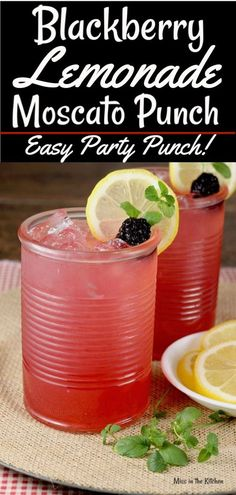 Blackberry Lemonade Moscato Punch is a great alcoholic party punch perfect for c. - Blackberry Lemonade Moscato Punch is a great alcoholic party punch perfect for celebrations and gat - Party Drinks Alcohol, Alcohol Drink Recipes, Cocktail Drinks, Alcoholic Party Drinks, Cocktail Recipes, Alcoholic Party Punches, Alcoholic Drinks With Lemonade, Fun Summer Drinks Alcohol, Cocktails For Parties