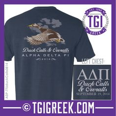 Alpha Delta Pi - TGI Greek - Comfort Colors - Greek T-shirts - #TGIGreek #AlphaDeltaPi #duckcalls&overalls tgigreek@tgipromo.com