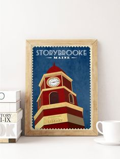 Once Upon a Time TV Show Vintage Travel Poster- Storybrooke Travel Poster…