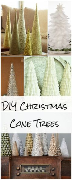 DIY Christmas Cone Trees DIY Christmas Cone Trees Lots of tutorials! Cone Christmas Trees, Noel Christmas, Cone Trees, Winter Christmas, All Things Christmas, Christmas Ornaments, Christmas Budget, Topiary Trees, Christmas Tree Crafts