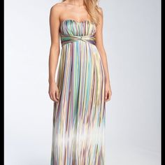 "Maxi Dress NWT Jessica Simpson lustrous satin, full length strapless gown. Approx length from top center front to hem 50"" Fully lined with rubber gripper and padding in bodice. Jessica Simpson Dresses Strapless"