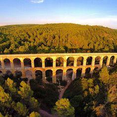 Espectacular imatge aèria del Pont del Diable, de Luis Manzaneda (@manzamedia a…