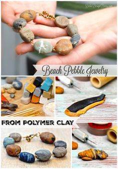 Faux Stone Jewelry from Polymer Clay It can't be as easy as she makes it look! …